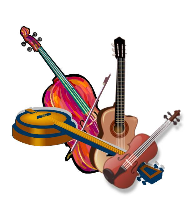 Bluegrass Instruments Clip Art N3 free image.