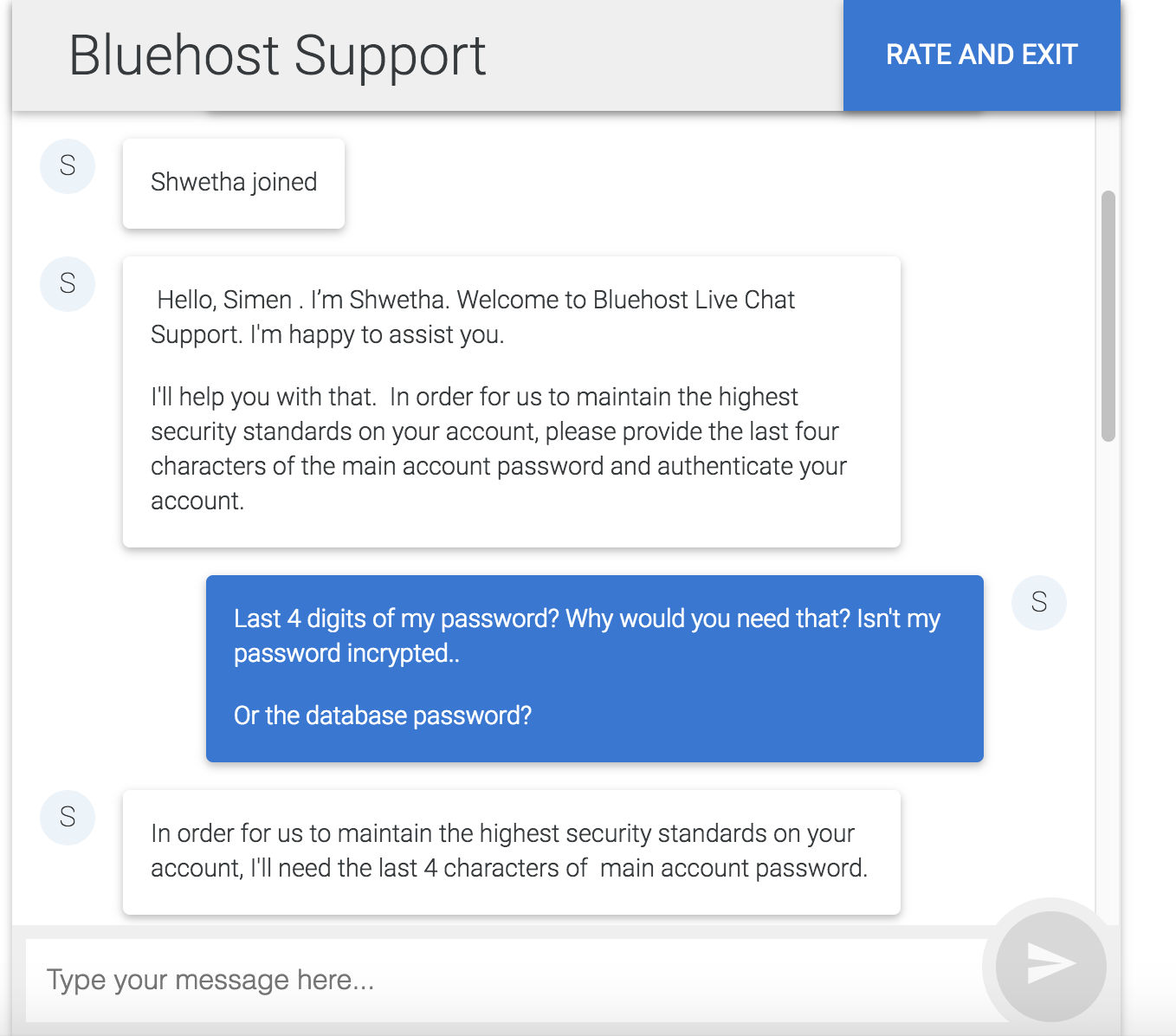 Seems like BlueHost is not encrypting passwords.. : webdev.