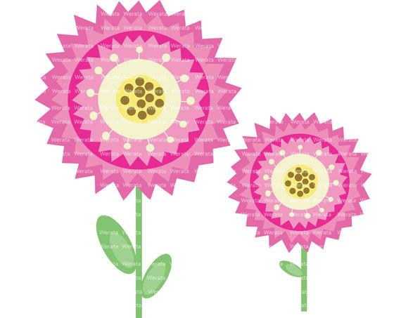 Ähnliche Artikel wie Blume Clip Art digital Clipart.