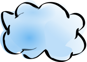 Blue And White Cloud Clip Art at Clker.com.