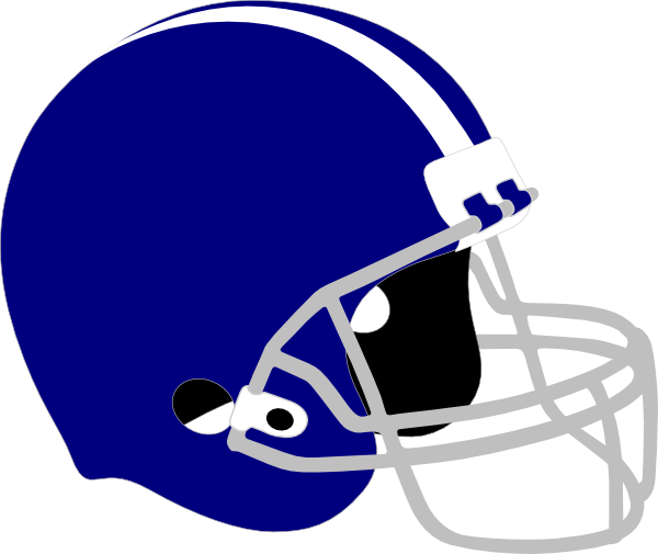 Blue football helmet clip art.