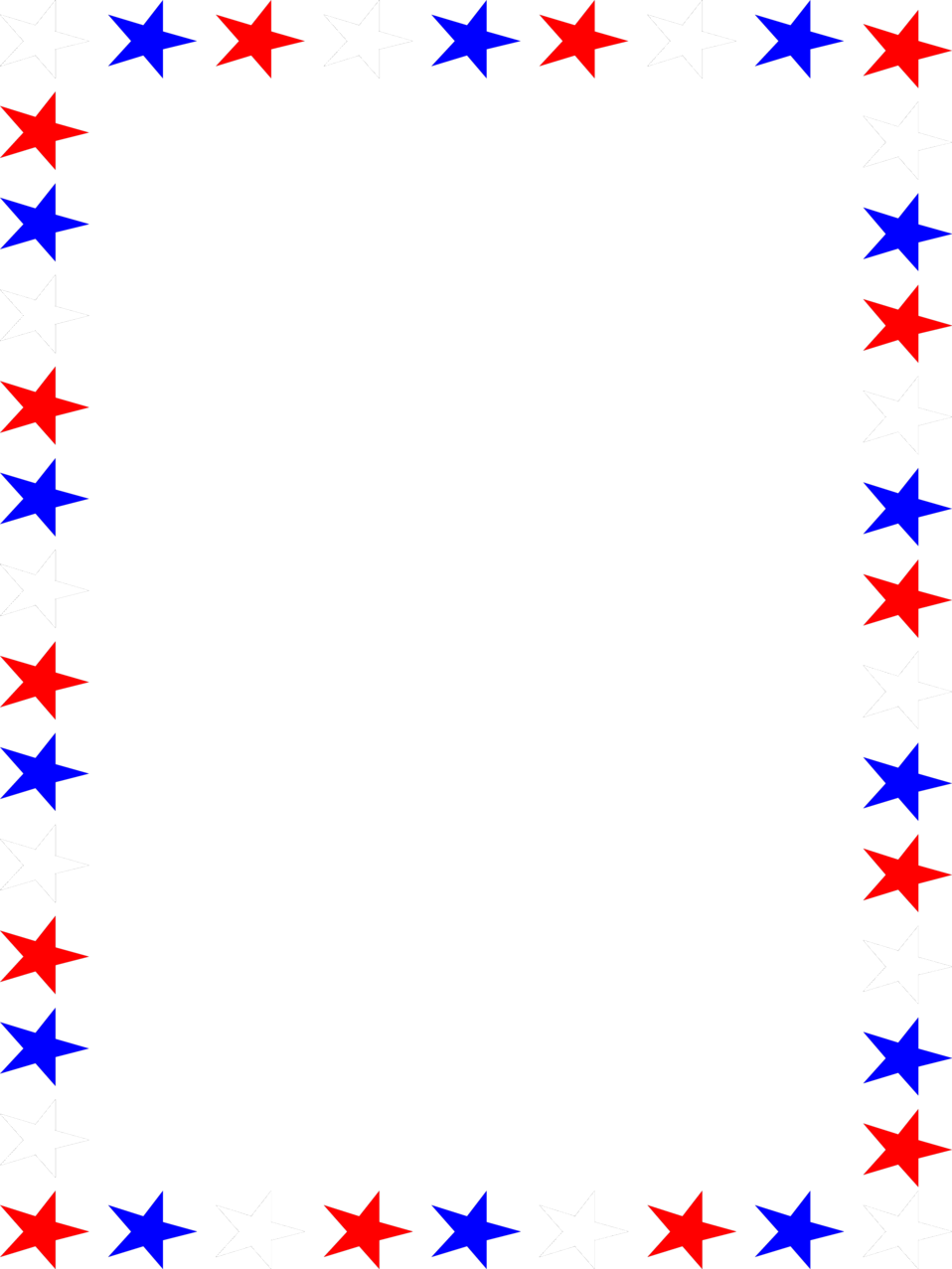 Red White And Blue Border.
