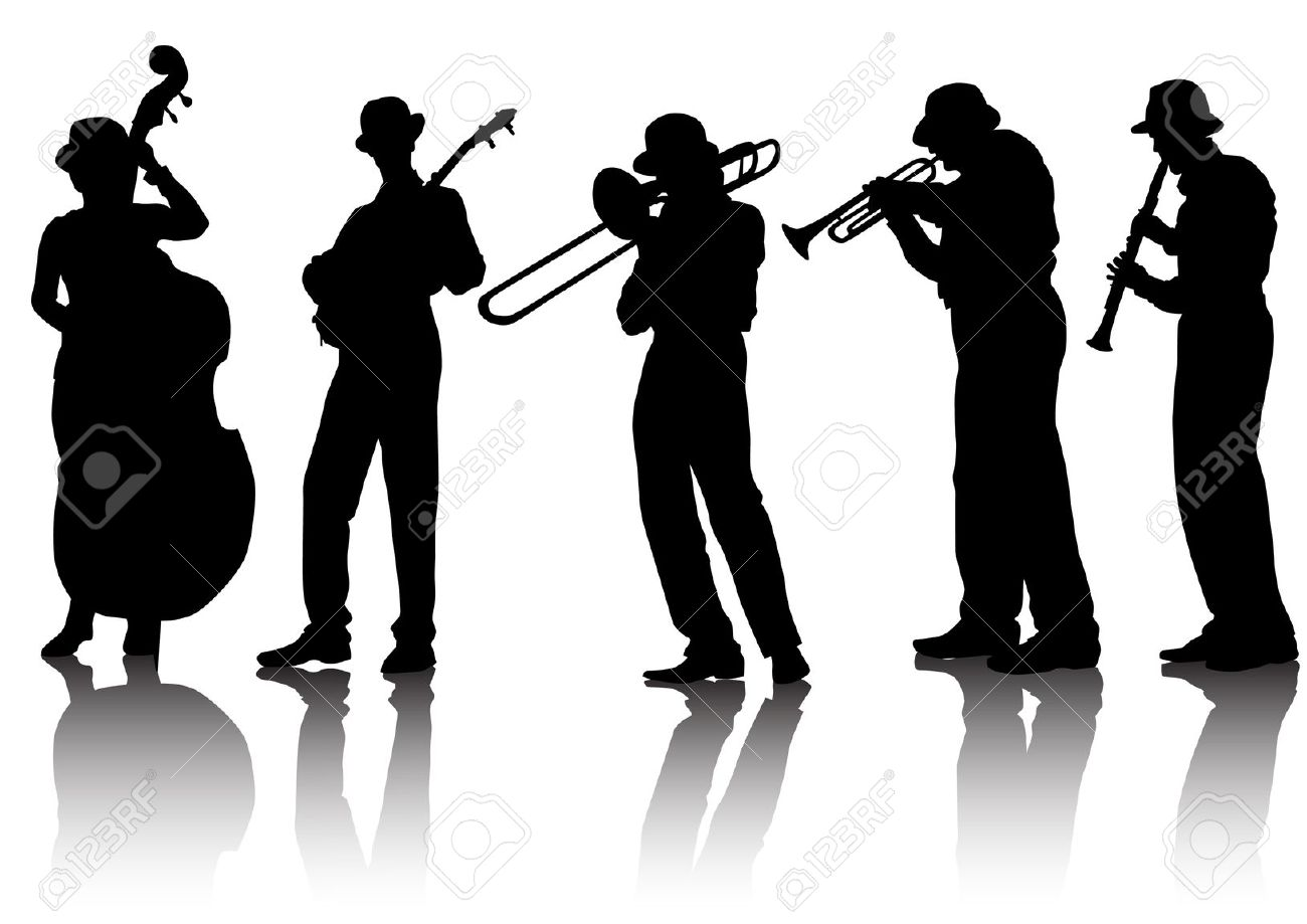 Blues band clipart.