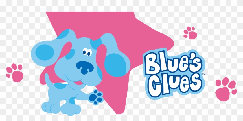 Blue's Clues Clip And Text Pink Background Clipart.