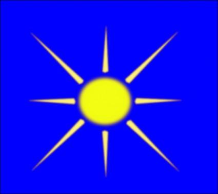 Sun With Blue Sky clip art.