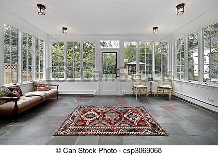Pictures of Porch with bluestone tile.
