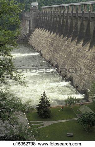 Pictures of dam, hydroelectric, West Virginia, Bluestone Dam in.