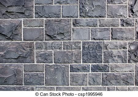 Stock Image of Bluestone Wall.
