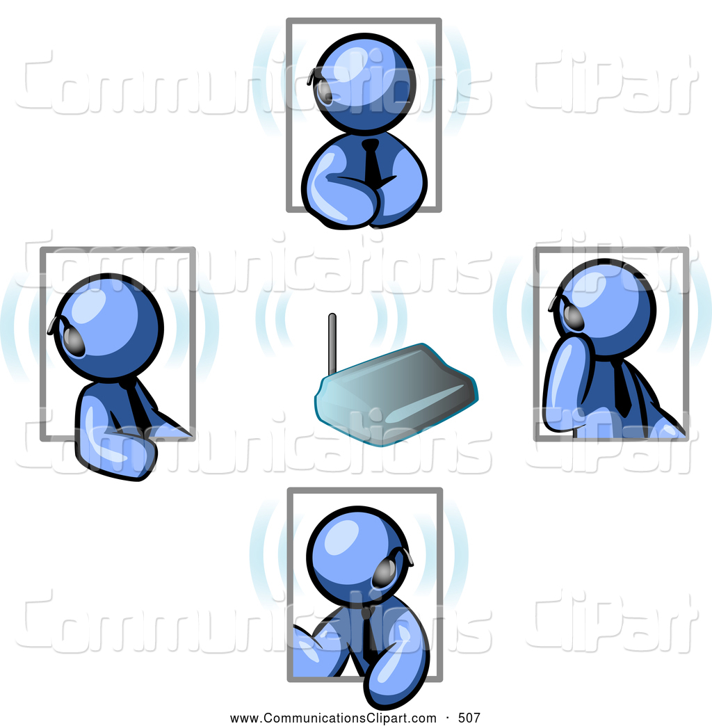 Royalty Free Blue Men Stock Communication Designs.