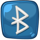 Cool Bluetooth Logo Icon, PNG ClipArt Image.