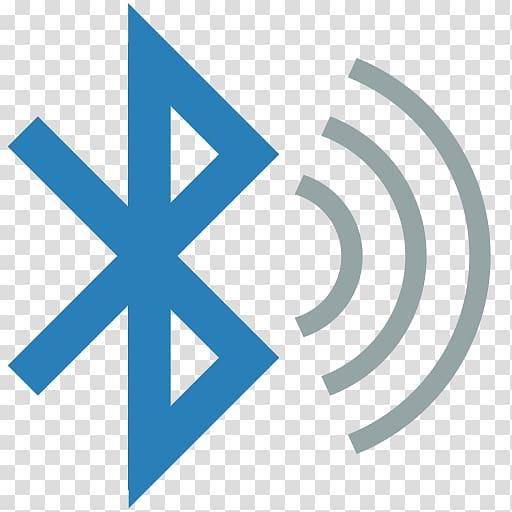 Blue Bluetooth icon, Bluetooth Low Energy Wireless speaker.