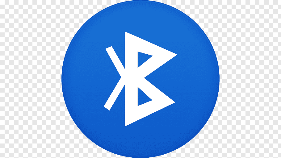 Bluetooth logo, blue area trademark symbol, Bluetooth free.