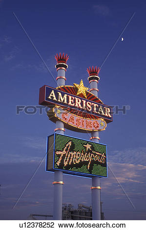 Stock Photo of Iowa, Council Bluffs, casino, Ameristar Casino.