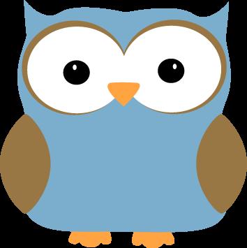 Blue clipart owl.