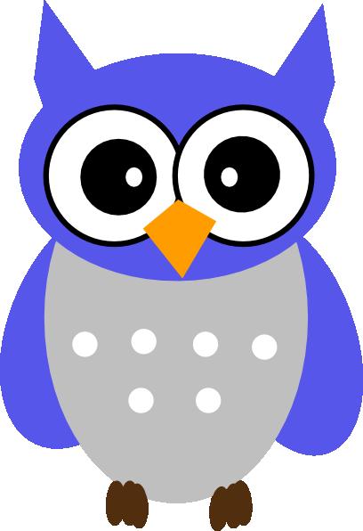 Blue Gray Owl Clip Art at Clker.com.