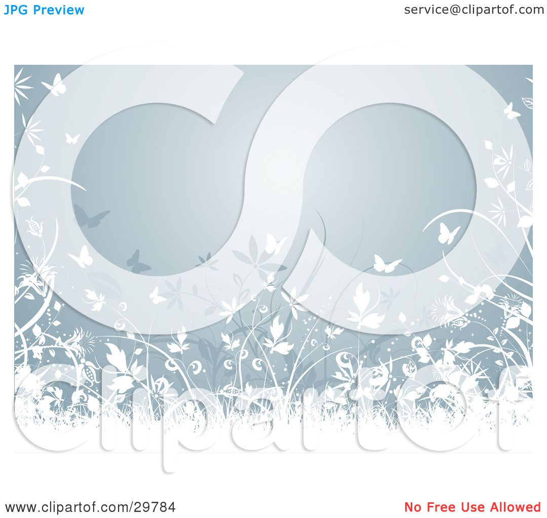 Clipart Illustration of a Bluish Gray Background Bordered By.