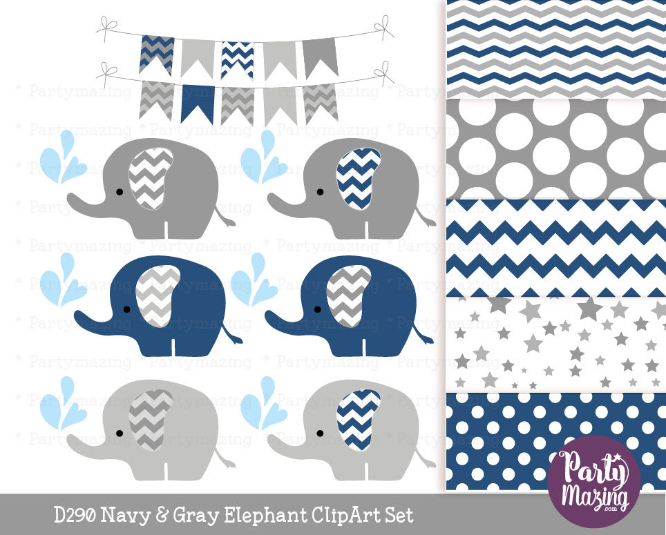 Blue and gray clipart.
