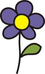 Blume lila clipart.