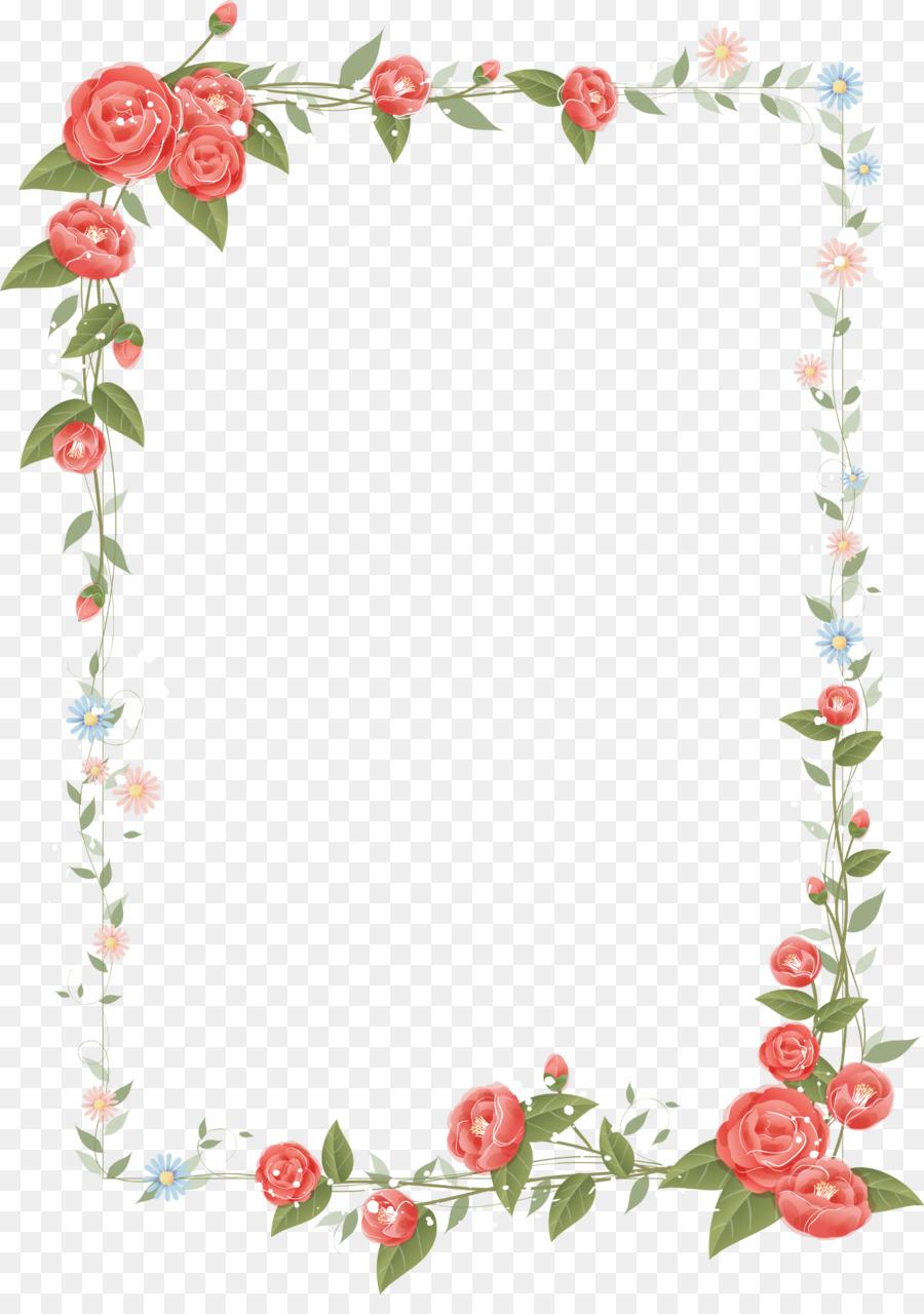 Grenze Blumen Florale design clipart.