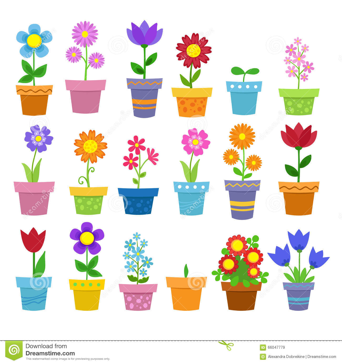 Clipart Blumen Stock Illustrationen, Vektors, & Klipart.