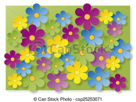 Stock Illustrations of Bunte Blumen csp25253071.