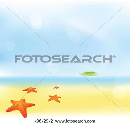 Clipart of summer beach blur background k9672972.