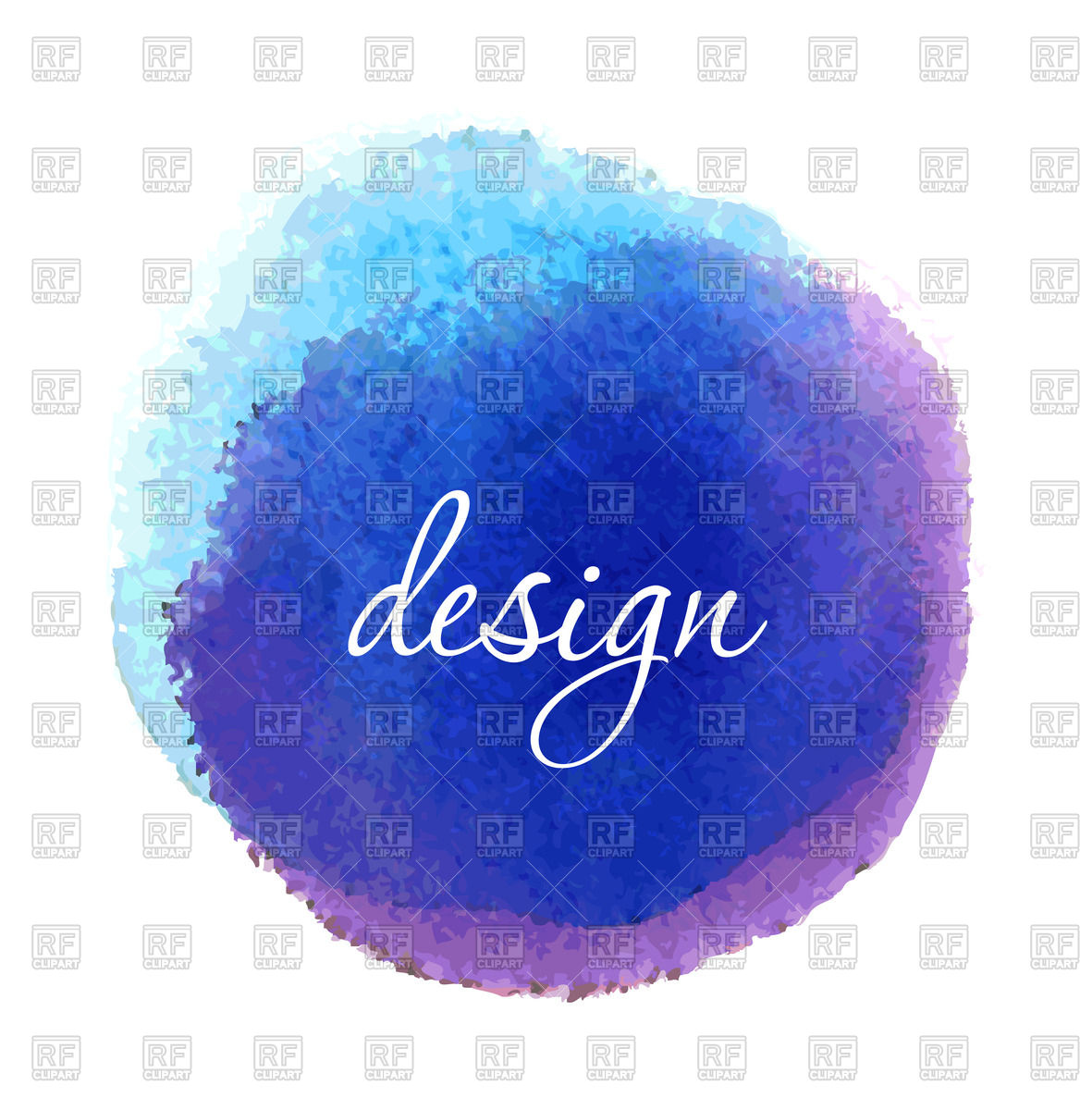 Blue watercolor circle Vector Image #59666.