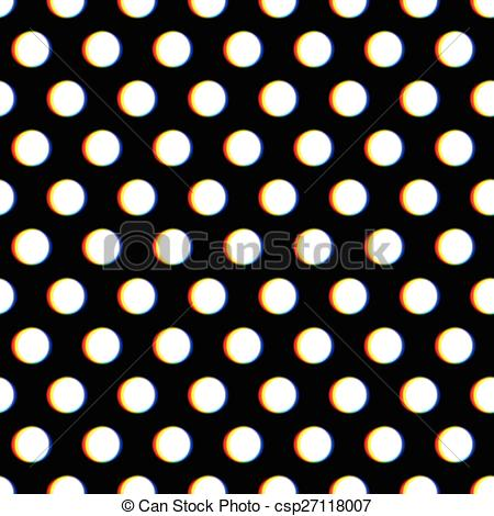 Vector Clipart of Seamless polka dot pattern with blurred circles.