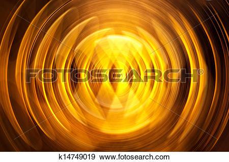 Stock Illustration of Gold circle motion blur k14749019.
