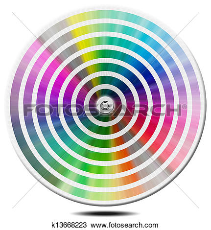 Drawing of Pantone Color Palette.