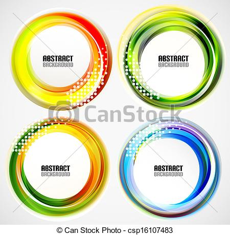 Vector of Abstract blurred circle banners / templates csp16107483.