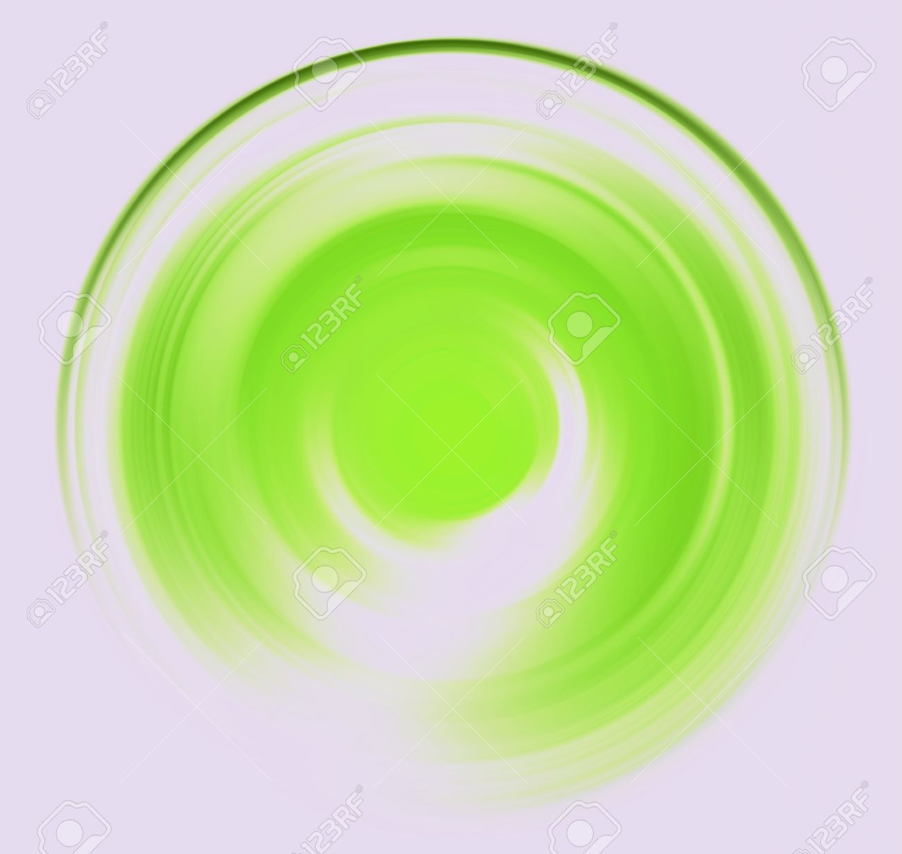 Spin Blur Circle Of Bright Light Green Abstract Background Stock.