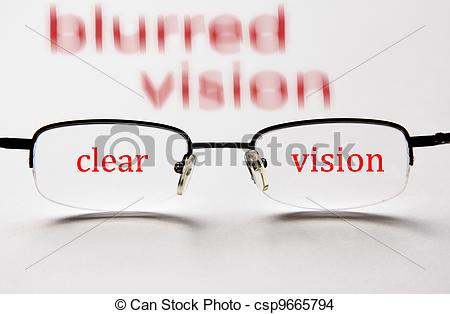 Blurred vision clipart.