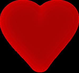 Dark Red Blurred Heart 2 Clip Art at Clker.com.