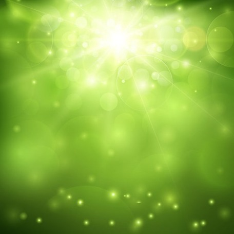 Green Blurred Background and Sunlight, Vectors.