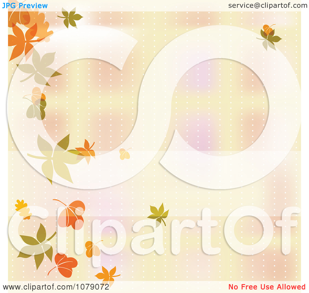 Clipart Blurred Autumn Background With A Border Of Falling Leaves.