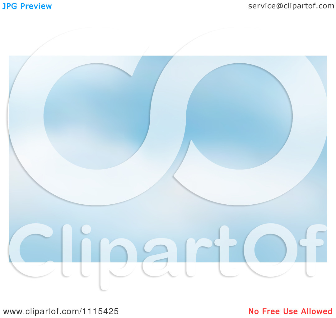 Clipart Blurred Blue Cloudy Sky Background.