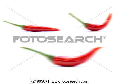 Stock Photography of Blurring red chili pepper form k24963671.