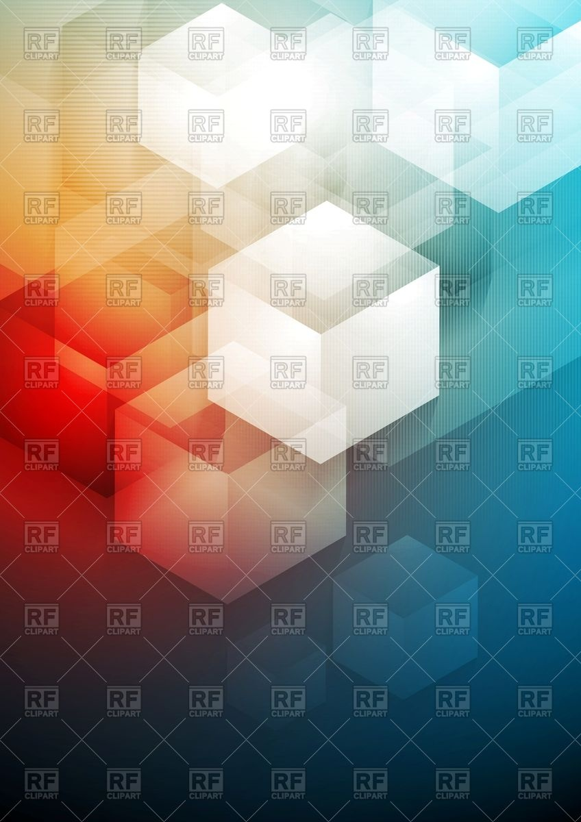 Abstract blurry tech background with overlapping hexagon shapes.