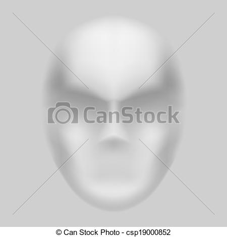 Clipart Vector of Blurry face.