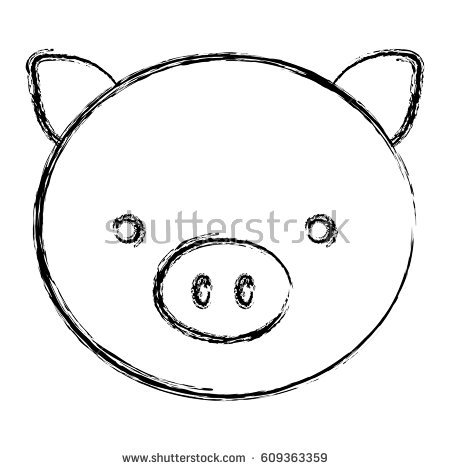 Pig Face Stock Images, Royalty.