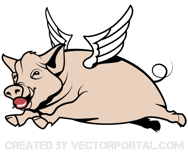 Pig Head Vector Art.