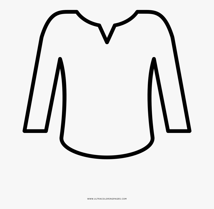 Blouse Coloring Page.