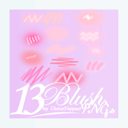PNG PACK] Cheek Blush Pink PNG by ChocoYeppeo on DeviantArt.