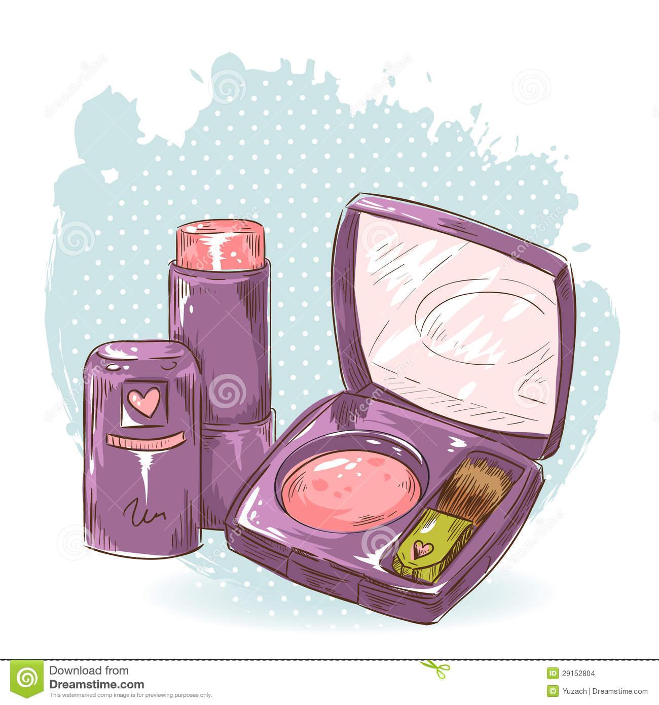 Blusher Stock Illustrations.