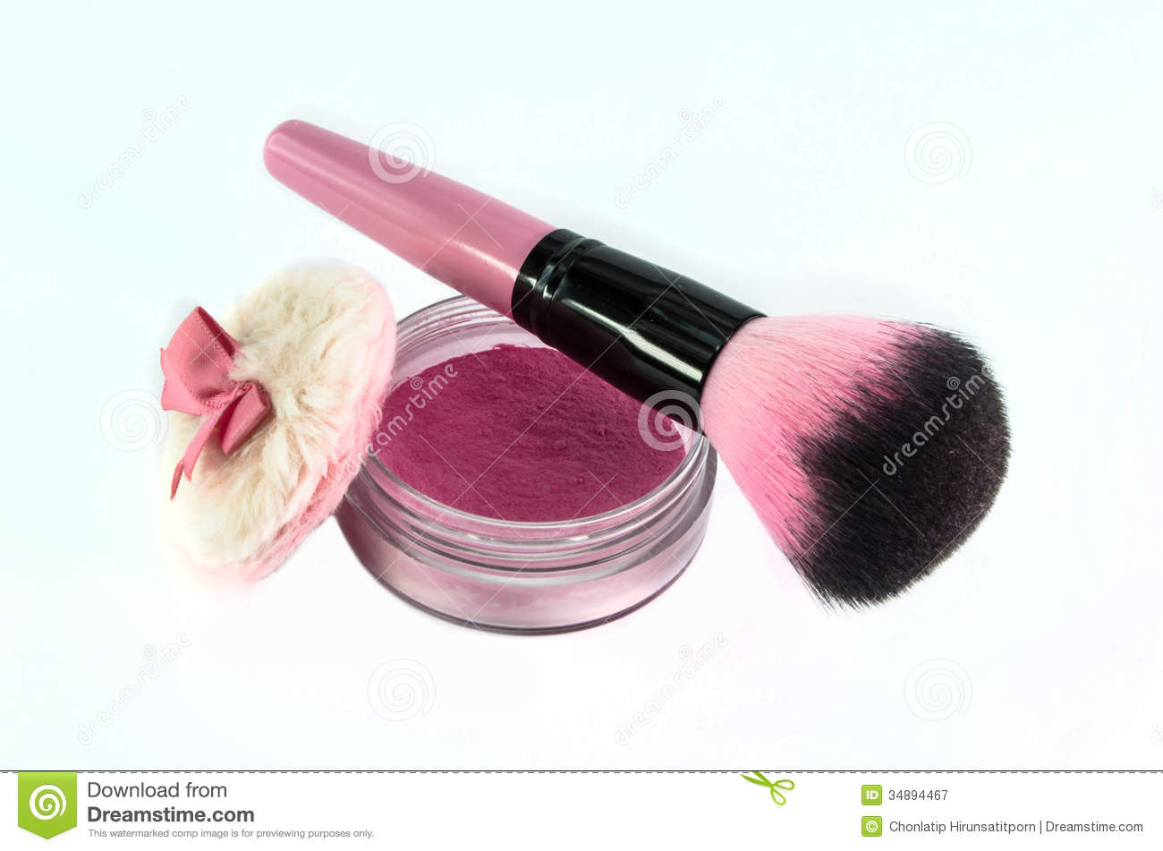 Blush Brush Royalty Free Stock Photography.