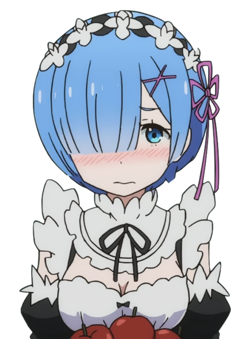 """recruit sky on Twitter: """"blushing rem (a bit sloppy in the editing."""