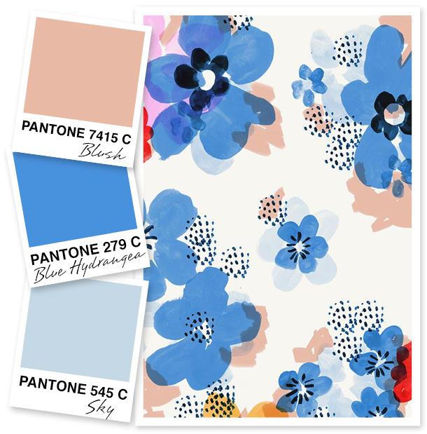 Blush and Sky Blue Color Palette.