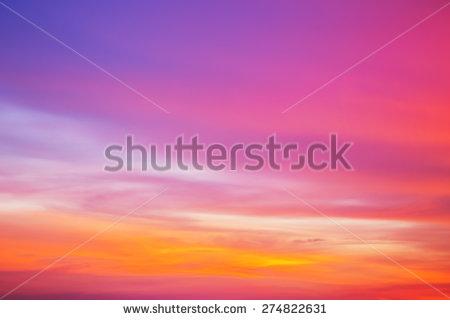 Sundown Sky Stock Photos, Royalty.