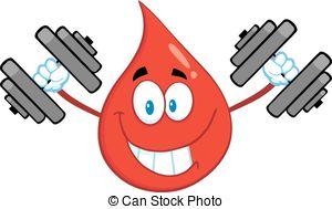 Rotes blut tropfen heben gewichte Vektor Clip Art EPS Bilder. 3.